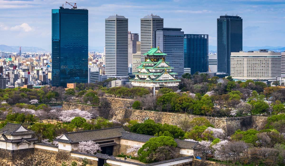 castelul osaka japonia