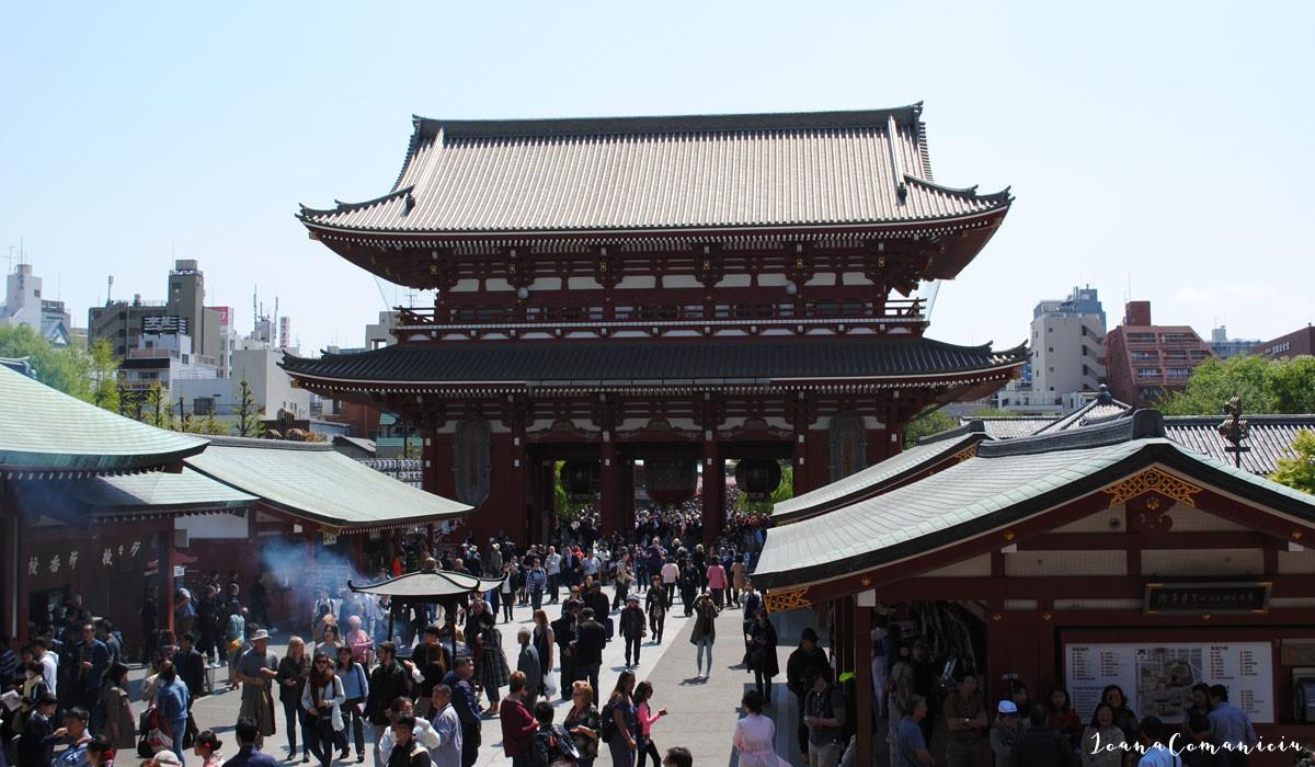 Poarta Kaminarimon Asakusa Tokyo