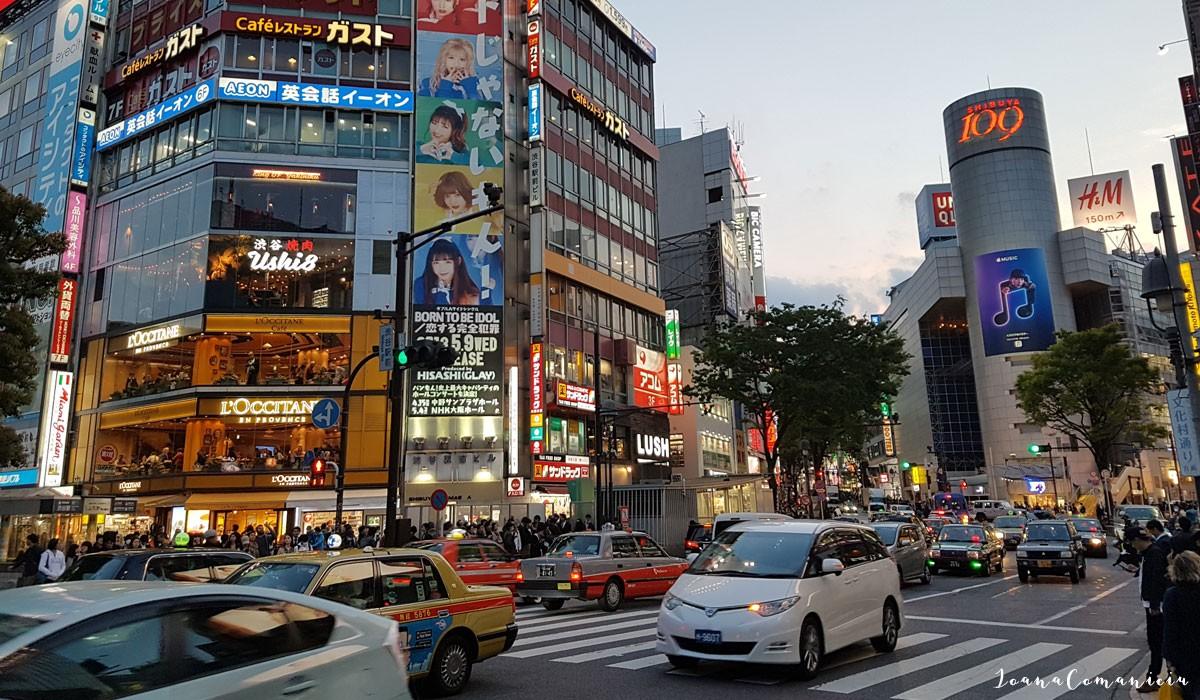 Zona de shopping Shibuya Tokyo