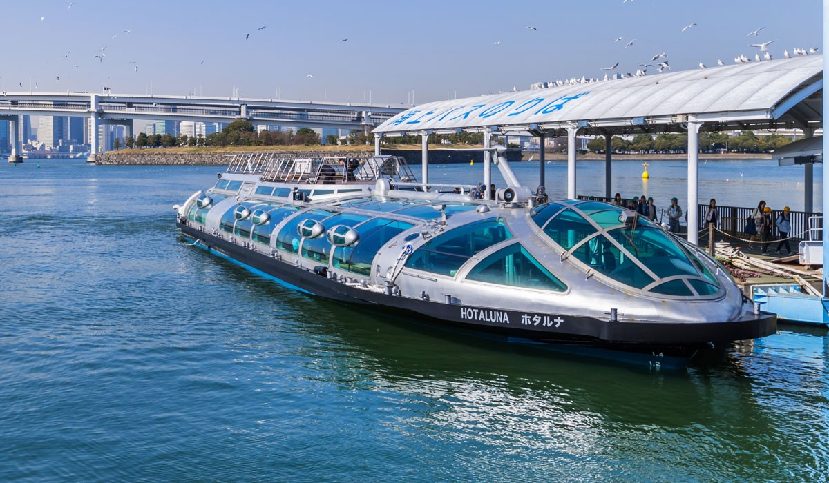 Tokyo Water Bus transport turisti